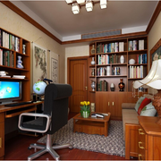 美式大户型书房图片