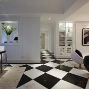 客厅黑白色地板