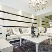 典雅白色客厅展示