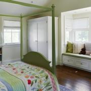 舒适卧室绿色飘窗