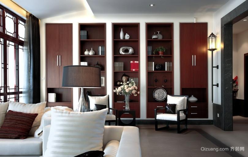 中式博古架装室内装修效果图