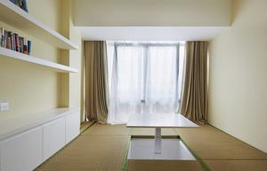 小户型现代日式卧室榻榻米背景墙装修效果图
