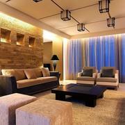 温馨暖色调客厅