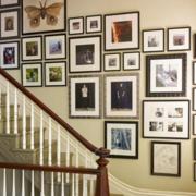 有魅力的复式楼楼梯照片墙