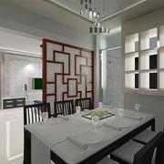 新中式餐厅隔断设计