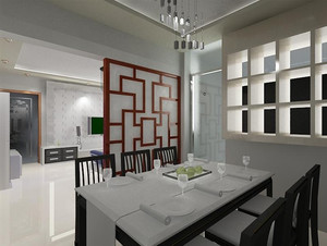 30平方厨房餐厅隔断吊顶效果图