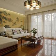 自然风格跃层客厅装修