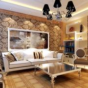 客厅个性沙发背景墙