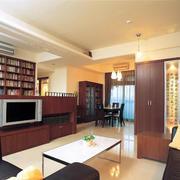 现代美式客厅背景墙