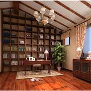 书房实木书柜欣赏