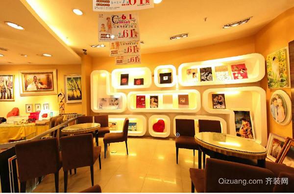 韩式精品婚纱影楼店面 背景墙 装修 设计效果图