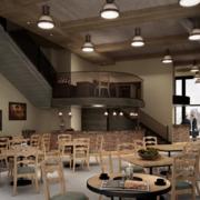 咖啡店实木简约餐桌椅