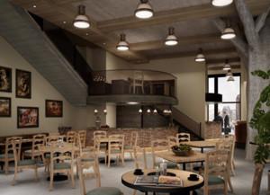 50平米小户型美式咖啡店装修效果图