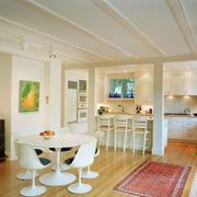 现代简约型厨房餐厅一体设计
