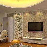 客厅液体壁纸背景墙