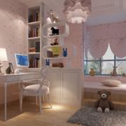 温馨色调儿童房效果图