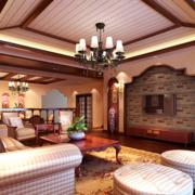 美式风格的客厅