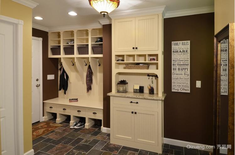 现代门厅简约鞋柜装修设计效果图
