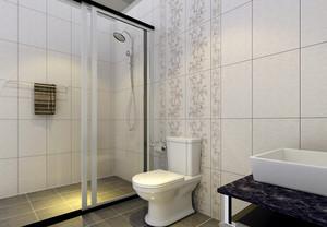 小户型精致卫生间马可波罗瓷砖背景墙装修效果图
