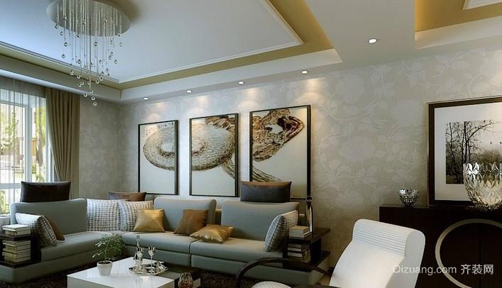 两居室精美简欧风格客厅装修效果图
