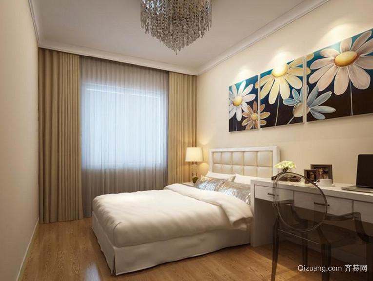 100平米简约现代风格卧室背景墙设计装修效果图