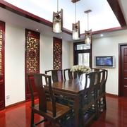 跃层式中式餐厅
