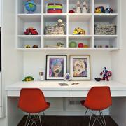 现代书房双人书桌