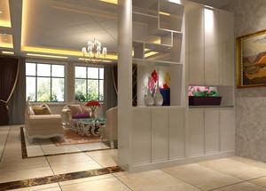 三居室欧式客厅玄关隔断装修效果图