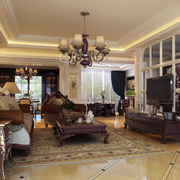 美式现代客厅图片