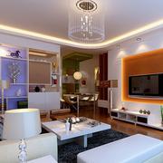 现代简约复式楼客厅