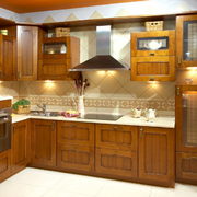 经典新中式实木厨房