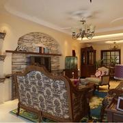 复古典雅型美式田园客厅
