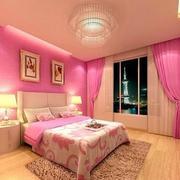 儿童房粉色卧室展示