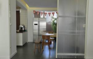 美式别墅厨房小餐厅隔断效果图