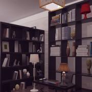 深色调书房效果图片