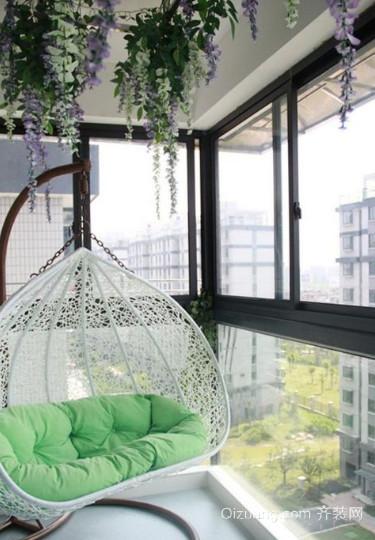 70㎡小户型阳台装修效果图