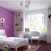 儿童房卧室紫色背景