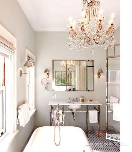 浪漫奢华的欧式风格卫生间设计装修效果图