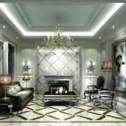 冷色调客厅地板砖