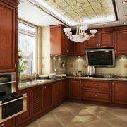 温馨别墅厨房橱柜