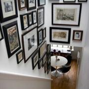 复式楼楼梯照片墙欣赏