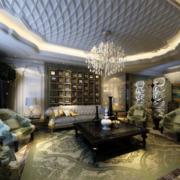 美式客厅地毯展示
