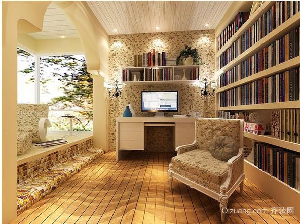 美式田园书房装修效果图