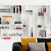 复式楼现代小清新书柜