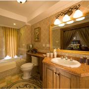 欧式优雅型亮色卫生间