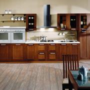 精美质感的实木型厨房