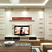 现代都市客厅电视背景墙
