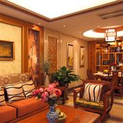 温馨暖色调客厅欣赏