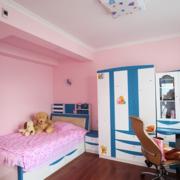现代粉色儿童房展示