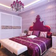 紫色梦幻的卧室